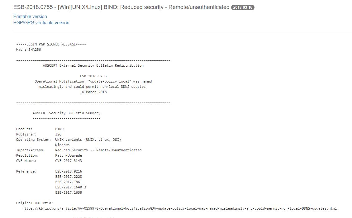 ISC BIND 繞過限制漏洞
