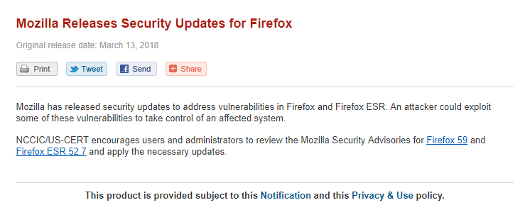 Mozilla Firefox 多個漏洞