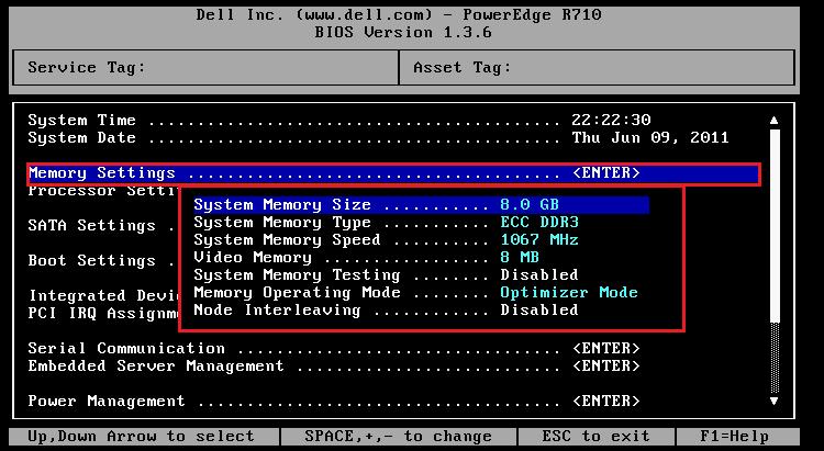 Dell R610 BIOS 設定- FAQBOOK